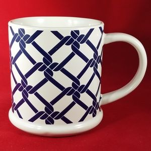 Tommy Hilfiger Blue Chainlink Coffee Cup Mug